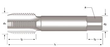 E243 - PG  Tarauds machine Goujures droite