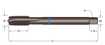 E384 - MF Tarauds machine Coupe gun, Shark bague bleue