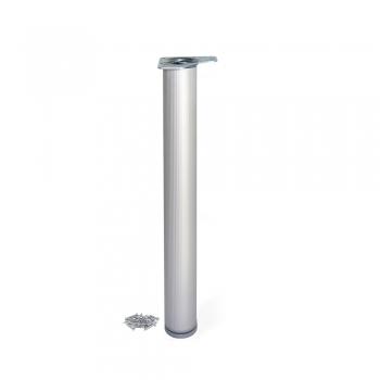 Pied pour table, D. 80 mm, réglable 870 - 890 mm, Aluminium, Anodisé mat