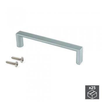 Poignée pour meuble, entraxe 96 mm, Zamak, Gris métallisé, 25 ut.
