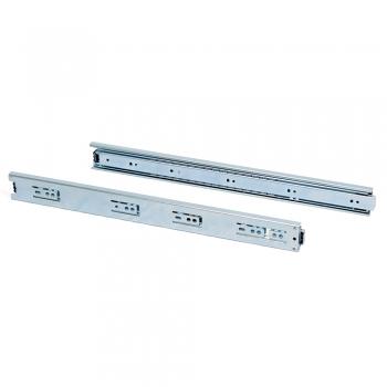 Paire de coulisses pour tiroires, à billes, 45 x 450 mm, à sortie totale, Zingué