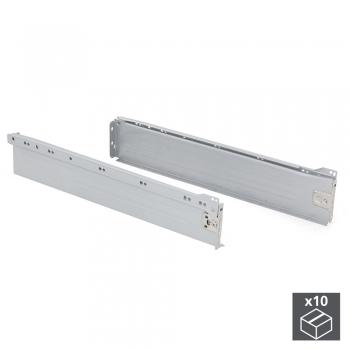 Kit de tiroir pour cuisine Ultrabox, hauteur 86 mm, prof. 500 mm, Acier, Gris métallisé, 10 ut.