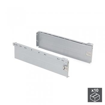 Kit de tiroir pour cuisine Ultrabox, hauteur 150 mm, prof. 350 mm, Acier, Gris métallisé, 10 ut.