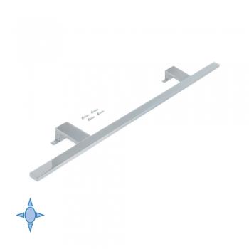 Applique LED pour miroir de salle de bain, 800 mm, IP44, Lumière blanc froid, Aluminium et plastique, Chromé