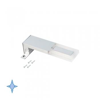 Applique LED pour miroir de salle de bain, 40 mm, IP44, Lumière blanc froid, Aluminium et plastique, Chromé