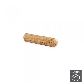 Tourillons, D. 8 mm, 30 mm, Bois, 100 ut.