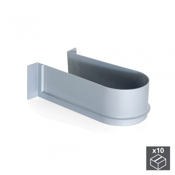 Sous-évier pour tiroir de salle de bain, courbe, Plastique, Gris, 10 ut.