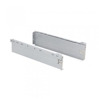 Kit de tiroir pour cuisine Ultrabox, hauteur 118 mm, prof. 350 mm, Acier, Gris métallisé