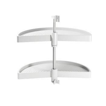Jeu de plateaux tournants module de cuisine, 180º, module 800 mm, Plastique, Blanc