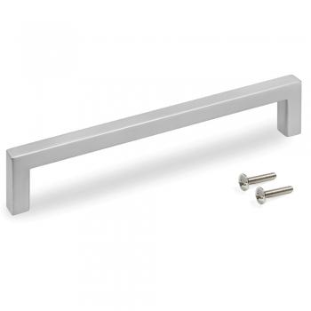 Poignée pour meuble, entraxe 160 mm, Zamak, Nickel satiné