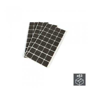 Patins en feutre adhésifs pour meubles, carrés, 30 x 30 mm, 63 ut.
