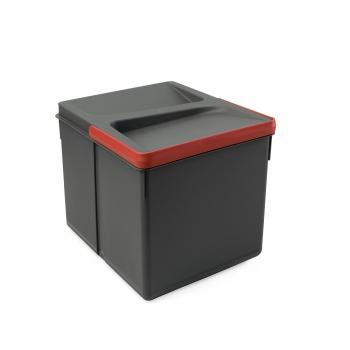 Poubelles pour tiroir de cuisine, hauteur 216 mm, 1x12L, Gris antracite