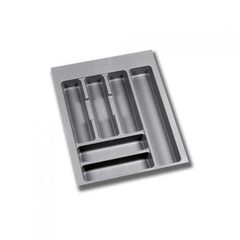 Range-couverts pour tiroirs de cuisine, module 450 mm, Plastique, Gris