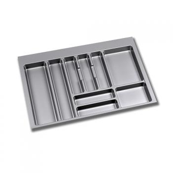 Range-couverts pour tiroirs de cuisine, module 800 mm, Plastique, Gris