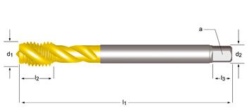 EX10TIN - MF  Tarauds machine goujures hélicoidales 45°