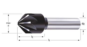 G132 - Fraises à ébavurer et à chanfreiner - 90°