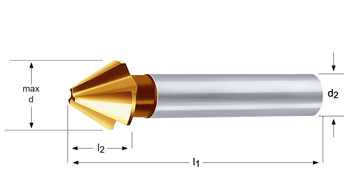 G335 - Fraises à ébavurer et à chanfreiner - 60°
