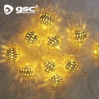 Boules dorées LED Ref. 5204456