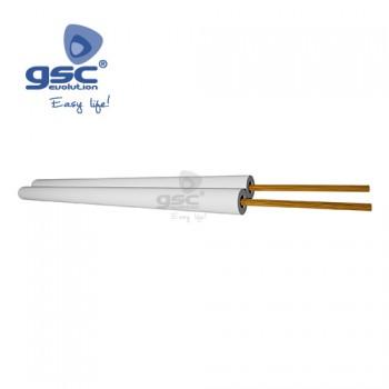 Câble parallèle blanc polarisé (Rouleau de 100M) Ref. 3902938-3902939-3902940-3902941