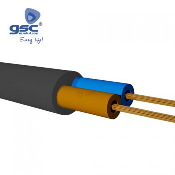 Câble gainé plat noir (Rouleau 100M) Ref. 3902935-3902936-3902937