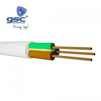 Câble gainé blanc (Rouleau 100M) Ref. 3902927-3902928-3902930