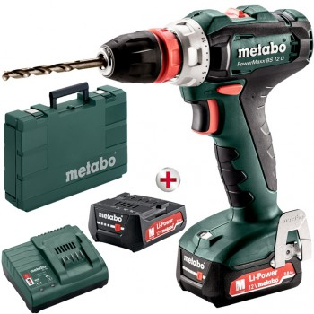PERCEUSE VISSEUSE SANS FIL BATTERIE DE 12 VOLTS METABO Mod POWERMAXX BS 12 Q