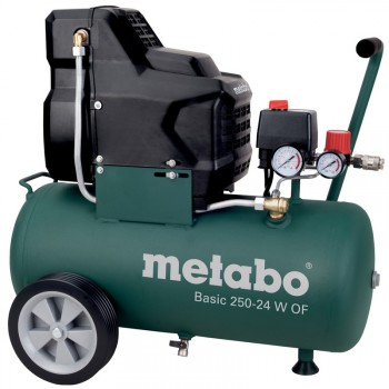 COMPRESSEUR METABO SANS HUILE Mod. BASIC 250-24 W OF