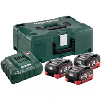 SET BASIC DE 3 BATTERIES LIHD 5,5 AH + CHARGEUR  ASC 30-36 + COFFRET