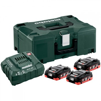 SET BASIC DE 3 BATTERIES LIHD 4,0 AH + CHARGEUR  ASC 30-36 + COFFRET