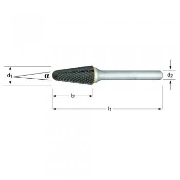 P821C - Lime rotative - Conique à bout rond